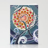 lotus Stationery Cards featuring Lotus by brenda erickson