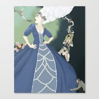 marie antoinette Canvas Prints featuring Marie Antoinette by Theresa Ganzer
