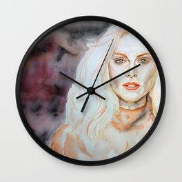 Julianne Moore Purple Wall Clock