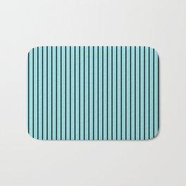 Island Paradise and Black Stripes Bath Mat