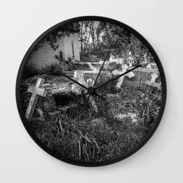 Derelict Crosses Wall Clock