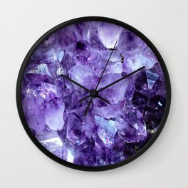 Amethyst Crystals Wall Clock