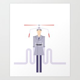 Inspector Gadget Art Print