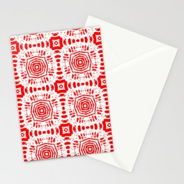 Red Medallions Stationery Cards