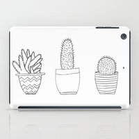 cacti iPad Cases featuring Cacti by Laurel Mae