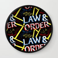 law Wall Clocks featuring LAW & ORDER by Josh LaFayette