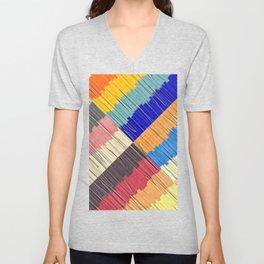 Cool Colors Collage Unisex V-Neck