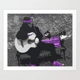 Play Myself a Song Art Print