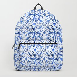 classic blue filigree Backpack