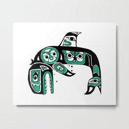 Native American Orca Metal Print