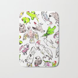All the Birds! Bath Mat