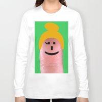 olivia joy Long Sleeve T-shirts featuring Olivia by Panic Junkie