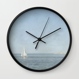Sunday Sail  - Cape Cod Wall Clock