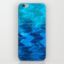Blue Faded Chevron iPhone Skin