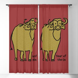 Year of the Ox Blackout Curtain