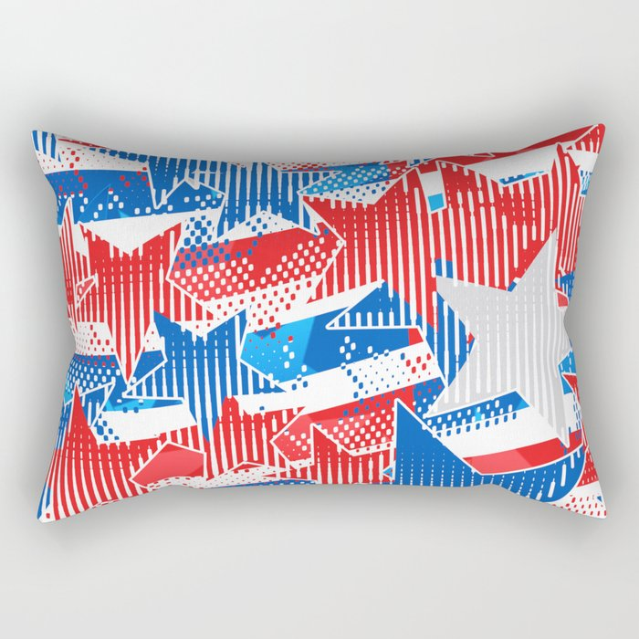 Artistic LXXXVI - Americana Rectangular Pillow