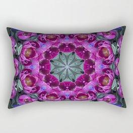 Floral finery - kaleidoscope of blue, plum, rose and green 1650 Rectangular Pillow