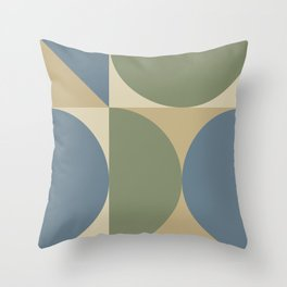 Mid Century Modern Geometric Abstract 239 Throw Pillow