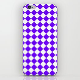 Diamonds - White and Indigo Violet iPhone Skin