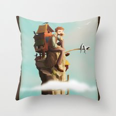 Bird Keeper Throw Pillow