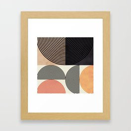 lines & shapes III - abstract geometric Framed Art Print