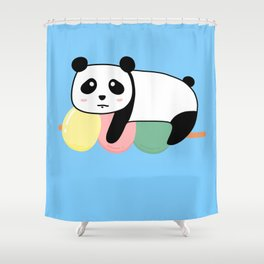 Panda Loves Mochi Shower Curtain