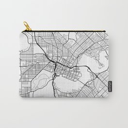 Perth Map, Australia - White  Carry-All Pouch