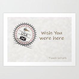 A dream. A memory. Wish You Were Here. Art Print