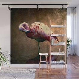 Flamingo Stance 2 Wall Mural