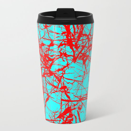Freedom Red Metal Travel Mug