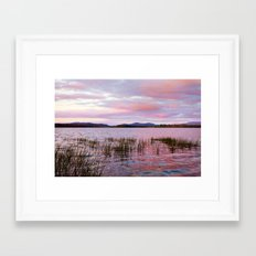 Sunset over Raquette Lake Framed Art Print