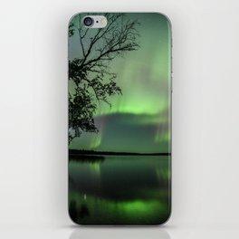 Aurora Borealis on the Water iPhone Skin
