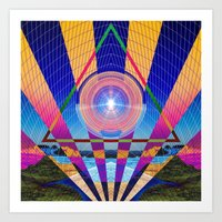 stargate Art Prints featuring STARGATE II by Adam Yasmin