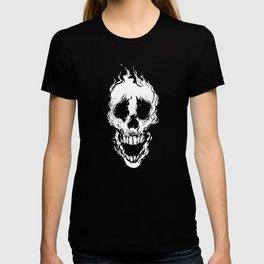 Fire Skull- White T-shirt