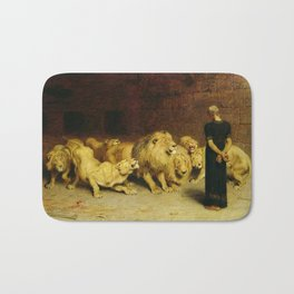 Daniel In The Lions Den 1872 By Briton Riviere Bath Mat