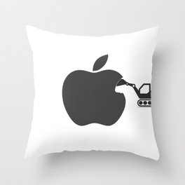 making of Apple Throw Pillow