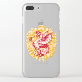 Noble House GINGER FIRE / Grungy heraldry design Clear iPhone Case