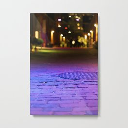 The Distillery District at Night Metal Print