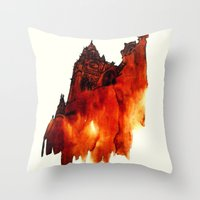 architecture Throw Pillows featuring ARCHITECTURE by hawwa a