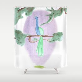 Peacock Prime Shower Curtain