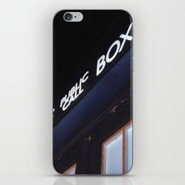 Police call box iPhone Skin