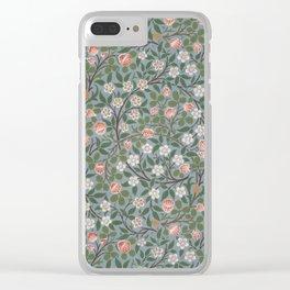 """William Morris """"Clover"""" Clear iPhone Case"""