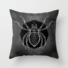 Spider Vignette Throw Pillow