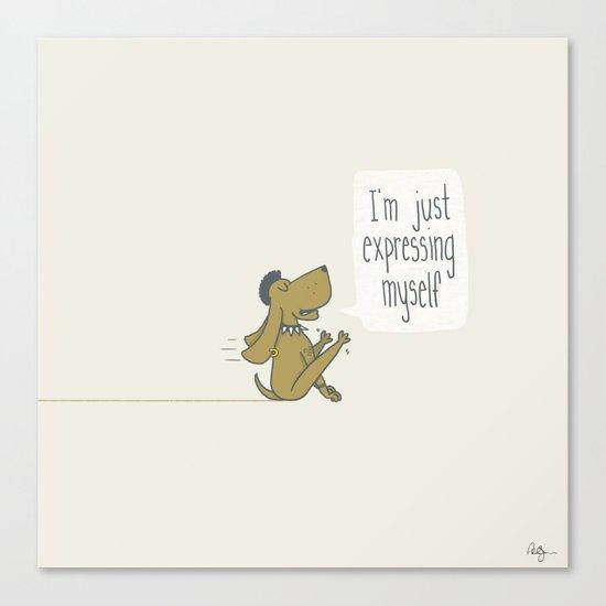 Dog Expression Canvas Print