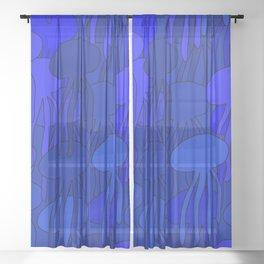 Jellyfish Blue Sheer Curtain