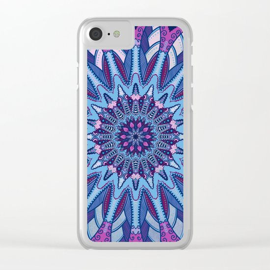 Iris Mandala Clear iPhone Case