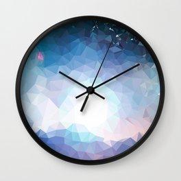 Galaxy low poly Wall Clock