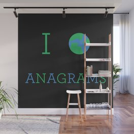 I heart Anagrams Wall Mural