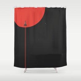 to new horizons Shower Curtain