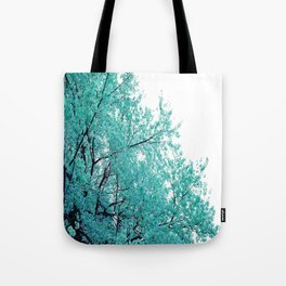 Turquoise Cherry Blossoms Tote Bag